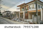 create new house at building...   Shutterstock . vector #795571288