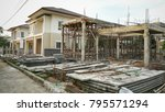 create new house at building...   Shutterstock . vector #795571294