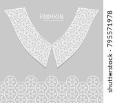 vector fashion background.... | Shutterstock .eps vector #795571978