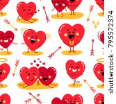 cute seamless pattern of... | Shutterstock . vector #795572374