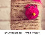 knited rope with mouse face... | Shutterstock . vector #795579094