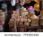 many products of bamboo weave... | Shutterstock . vector #795581560