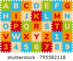 foam baby kids play mat... | Shutterstock .eps vector #795582118
