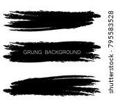 set of grunge banners.grunge... | Shutterstock .eps vector #795583528