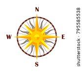 windrose symbol compass and... | Shutterstock .eps vector #795585538