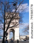paris  france   march 22  2016  ... | Shutterstock . vector #795585778