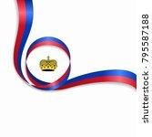liechtenstein flag wavy... | Shutterstock .eps vector #795587188