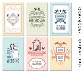 design template of wedding... | Shutterstock .eps vector #795587650