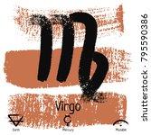 virgo. zodiac sign pictogram....   Shutterstock .eps vector #795590386