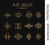 set of art deco shapes and... | Shutterstock .eps vector #795590740