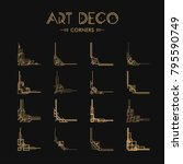 set of art deco corners for... | Shutterstock .eps vector #795590749