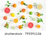 fruit background. colorful... | Shutterstock . vector #795591136