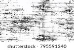 halftone grunge dotted strokes... | Shutterstock .eps vector #795591340