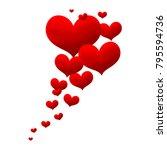 valentines love heart.... | Shutterstock .eps vector #795594736