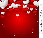 valentines love heart.... | Shutterstock .eps vector #795594748