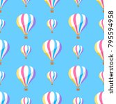 airballoon with colorful... | Shutterstock . vector #795594958