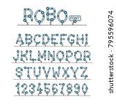 full set of technical robot... | Shutterstock .eps vector #795596074