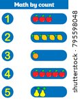 counting game for preschool... | Shutterstock .eps vector #795598048