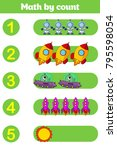counting game for preschool... | Shutterstock .eps vector #795598054