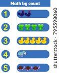 counting game for preschool... | Shutterstock .eps vector #795598060