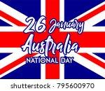 26th of january australia day... | Shutterstock .eps vector #795600970