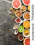 ingredients of healthy dietary... | Shutterstock . vector #795604300