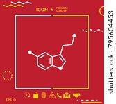 chemical formula icon. serotonin | Shutterstock .eps vector #795604453