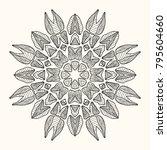 decorative mandala. vector... | Shutterstock .eps vector #795604660