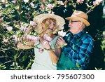 senior marriage standing next...   Shutterstock . vector #795607300