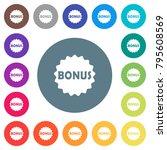 bonus sticker flat white icons...   Shutterstock .eps vector #795608569