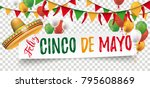white paper banner with... | Shutterstock .eps vector #795608869