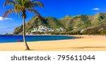 beaches of tenerife  las... | Shutterstock . vector #795611044