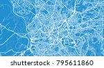 urban vector city map of... | Shutterstock .eps vector #795611860