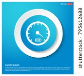 speedometer icon abstract blue...