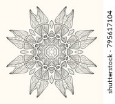 decorative mandala. vector... | Shutterstock .eps vector #795617104