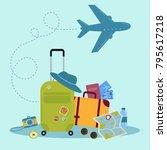 set of travel icons. traveler... | Shutterstock .eps vector #795617218