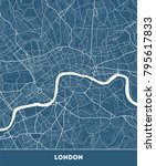 vector city map of london with... | Shutterstock .eps vector #795617833