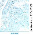 vector city map of new york... | Shutterstock .eps vector #795620338