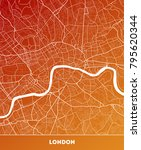 vector city map of london with... | Shutterstock .eps vector #795620344