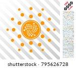 iota coin shine rays pictograph ... | Shutterstock .eps vector #795626728