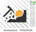 mining iota rocks pictograph... | Shutterstock .eps vector #795629104