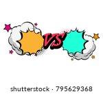 versus letters fight... | Shutterstock .eps vector #795629368