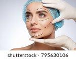 beauty portrait of woman in... | Shutterstock . vector #795630106