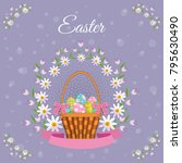vector easter holiday poster ... | Shutterstock .eps vector #795630490