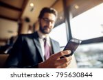 close up focus view mobile and... | Shutterstock . vector #795630844