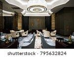 luxury lobby interior.   Shutterstock . vector #795632824