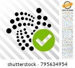 valid iota pictograph with 700... | Shutterstock .eps vector #795634954