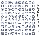 set of 100 icons for ui and web....