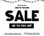 limited time only end of season ... | Shutterstock .eps vector #795643234