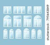 set of various isolated white... | Shutterstock .eps vector #795643849